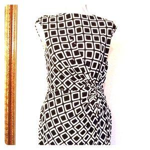 Ralph Lauren Pullover Dress Blk & Wht
